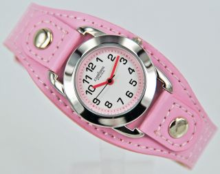 Pallas Kinderarmbanduhr Pink Mit Leder Armband Armbanduhr Uhr 7724.  78.  10 Bild