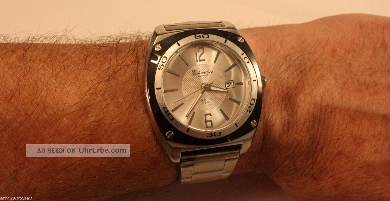 Herrenuhr,  Eichmüller Sportuhr,  Datumsanzeige,  Edelstahlarmband,  Elegant Armbanduhren Bild