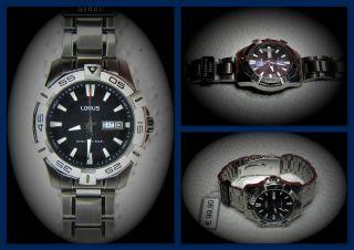 Neu: Lorus Edelstahl Herren Uhr Cal Seiko Vx43 Tag Datum Uvp 99,  90€ Bild