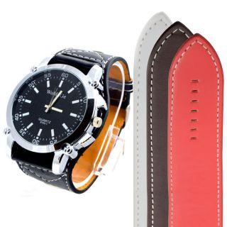 Womage Herren Armbanduhr Mit Extra Breiten Lederarmband Quarz W010 Bild