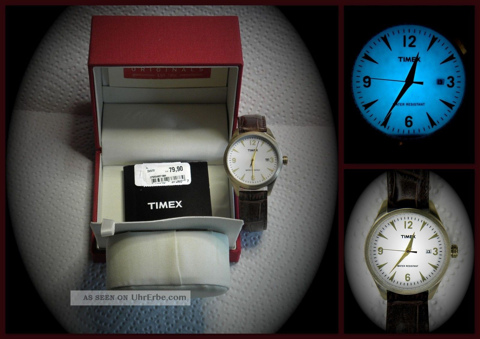 Armbanduhr Mit Beleuchtung | Neu Timex T2n532 Herren Uhr Datum Indiglo Beleuchtung Ovp Uvp 79 90