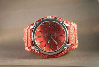Armbanduhr Quarz Damenuhr Kunstleder Trend Watch Analoguhr Rot Weihnachten Bild
