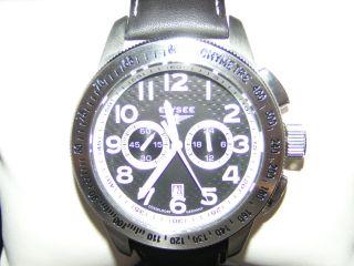 Elysee Chronograph Uhr Citizen Miyota Os21 Leder Armband Bild