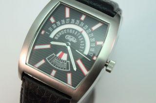 Buffallo Armbanduhr All Edelstahl 10 Bar Waterresist.  Lederband Seiko Werk Bild