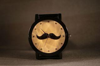 Armbanduhr Quarz Uhr Herrenuhr Metalarmband Trend Analoguhr Schwarz Weihnachten Bild