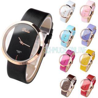 Transparent Rosegold Case Unisex - Armbanduhr Damen Herren Prägnante Uhr Quarzuhr Bild