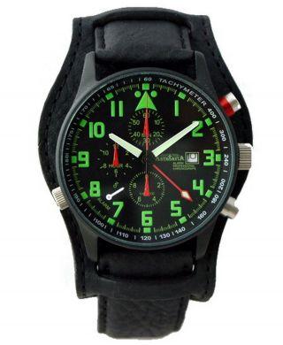 Astroavia 40mm Chronograph Pilot R 44 Bls Alarm Uhr Fliegeruhr Herrenuhr Datum Bild