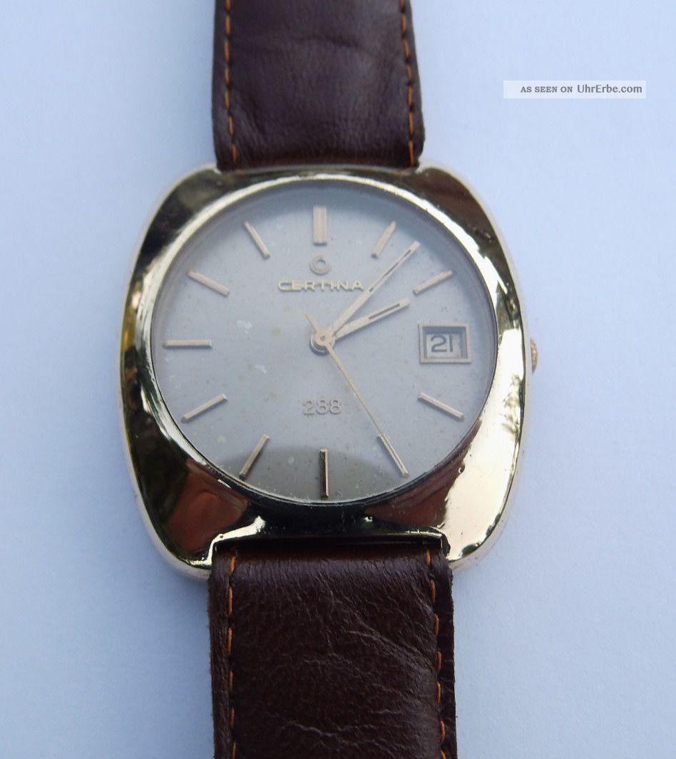 Certina 288 Automatik Vintage Swiss Made Herren Armbanduhr Kaliber 25 - 681 Armbanduhren Bild