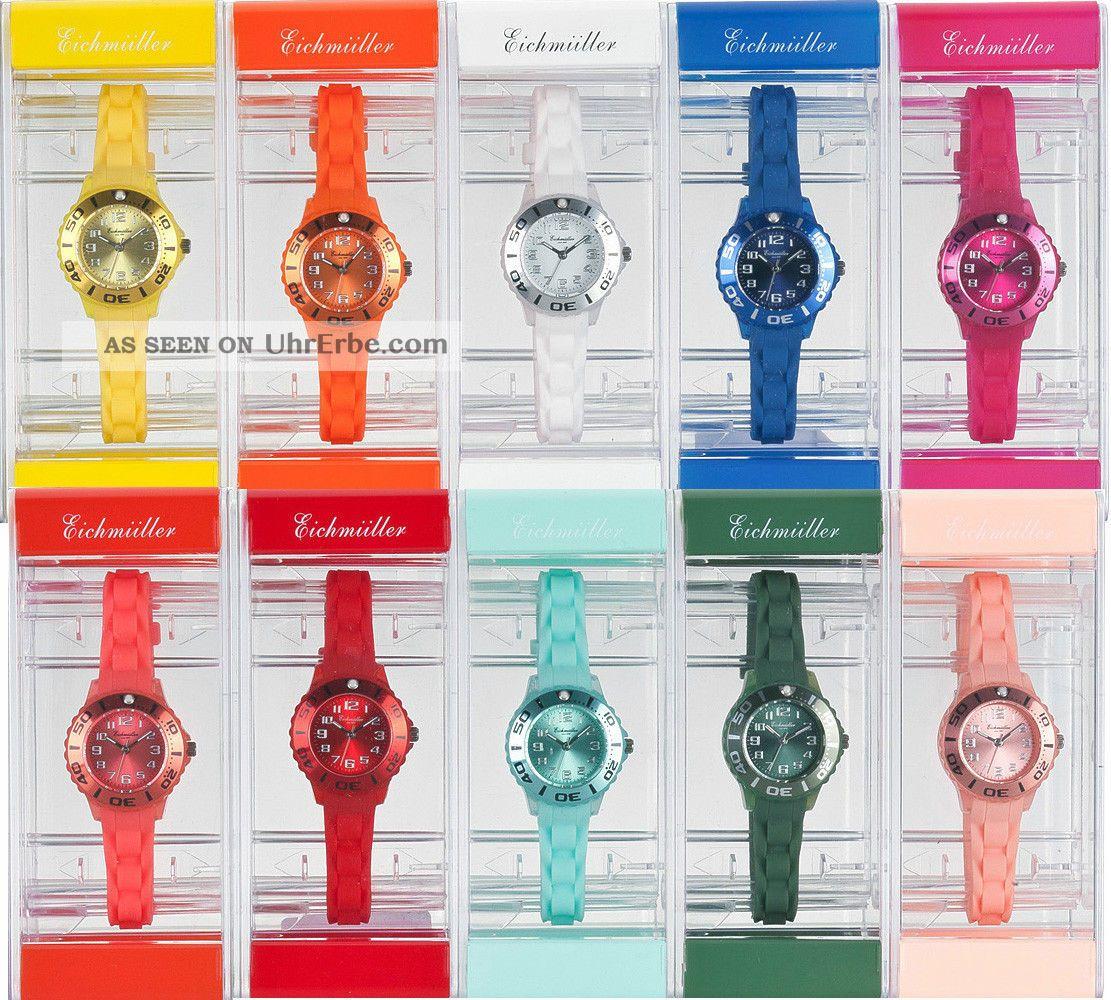 Kinder Armbanduhr Uhr Kunststoff Eichmüller Silikon Uhrenarmband Uhrenband Armbanduhren Bild