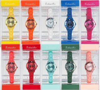 Kinder Armbanduhr Uhr Kunststoff Eichmüller Silikon Uhrenarmband Uhrenband Bild