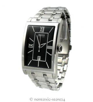 Hugo Boss Black Herren Uhr Schwarz Silber Edelstahl 1512383 - Ovp Bild