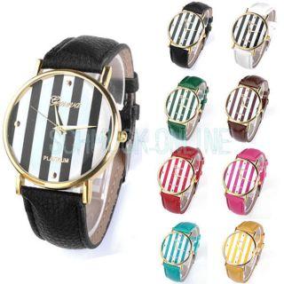 Modisch Damenuhr Analog Quarz Armbanduhr Lederarmband Uhren Top Geschenk Bild
