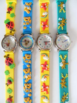 1 Kinderarmbanduhr Marienkäfer Bärchen Bambi Rentier Kinderuhr Uhr Uhren Bild