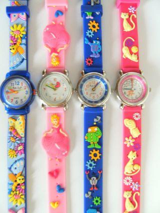 1 Kinderarmbanduhr Schmetterling Prinzessin Roboter Katze Kinderuhr Uhr Uhren Nw Bild