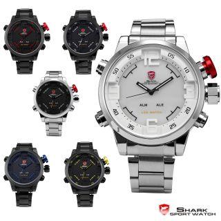 Shark 3d Sportuhr Groß Sportuhr Analog & Digital Led Quarz Herren Armband Uhr Bild