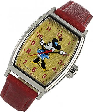 Disney Mickey Mouse Zr 25646 Handaufzug Kinderuhr Bild