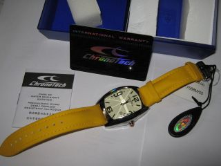Chronotech Armbanduhr Faltscliesse Gelb Np 119; - - In Ovp Bild