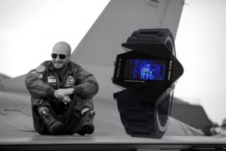Quarz Fliegeruhr Led Silikon Sport Armbanduhr Digital Stoppuhr Militär Pulsz Bild