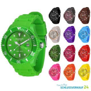 Madison York Candy Time Xl Silikon Uhr Sport Trend Uhren Armbanduhr Farbwahl Bild