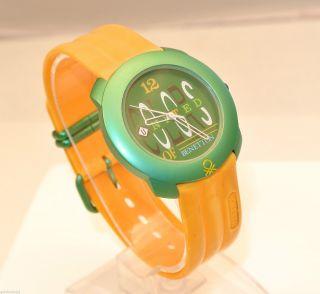 Benetton Armbanduhr - Unisex / Grün & Gelb / Quarz Bild