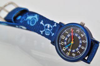 Pallas Kinderarmbanduhr Blau Totenkopf Armbanduhr Kinder Uhr 7983.  14.  14 Bild