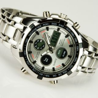 Bellos Herrenuhr Datum&tages Wasserdicht Mechanisch Stahl Armband Stahl Bild