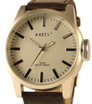Analoge Xxl Armbanduhr Von Akzent Herrenuhr Mit Großer Stellkrone Bild