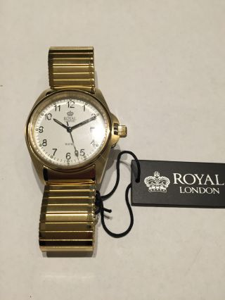 Herrenuhr Royal London Workhorse Serie 100 Meter Wasserdicht / Zugband Bild