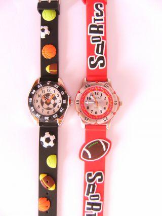 1 Kinderarmbanduhr Bälle Football Ball Fußball Armbanduhr Uhr Uhren Nw Bild