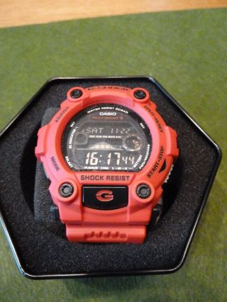 Neuwertige Casio G - Shock Gw - 7900rd - 4er Bild