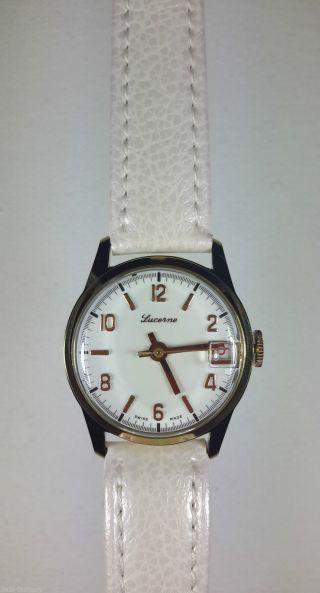 Swiss Made Damen Lucerne Uhr Alte Ungetragene Sammleruhr Handaufzug,  Nos Lu - 36 Bild