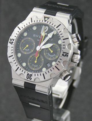 Bulgari Diagono Prof.  Scuba Chrono Chronometer Fly - Back Stahl/rubber Bild