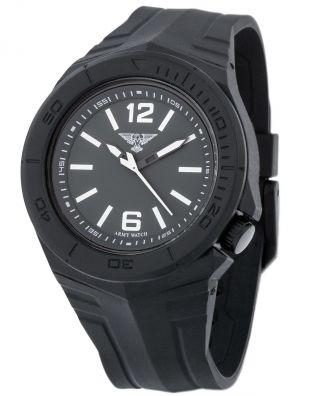 Robuste EichmÜller Army Watch Ep 500 Taucheruhr 10 Atm /100 M Herrenuhr Schwarz Bild