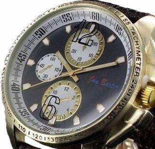 Große Jay Baxter Leder Herrenuhr Xxl Armbanduhr Analog Bild