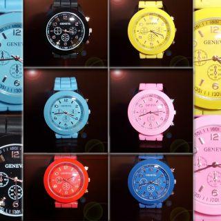 Silikon Uhr Damen Mädchen Jungen Armbanduhr Trend Gummi Watch Modern Quartz Bild
