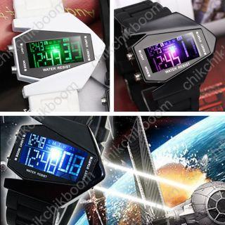 Led Militär Herren Damne Quarzuhr Fliegeruhr Armbanduhr Digital Silikon Sportuhr Bild