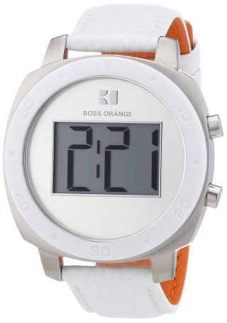 Hugo Boss Orange Design Digital Leder Weiß Damenuhr,  Herrenuhr 1502294 €150,  - Bild