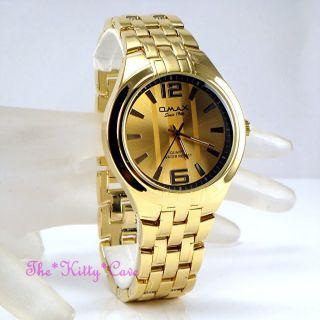 Omax Wasserdichte Sportliche Edelstahl Vergoldete Uhr,  Schweizer Marke Hbk809 Bild