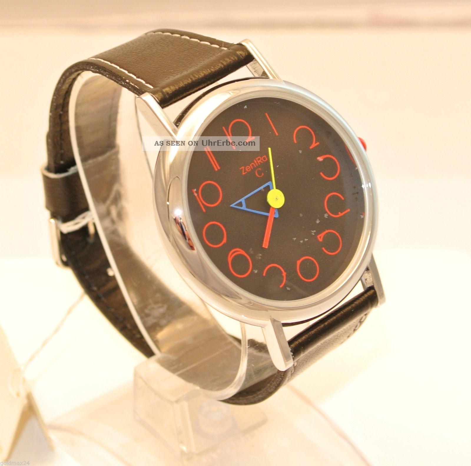 Zentra C - Damenarmbanduhr / Unisex / Quarz / Lederarmband Armbanduhren Bild