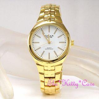 Omax Designer Edelstahl Stahl Seiko Movt Gold Pltd Herren Kleid Watch Hbj811 Bild