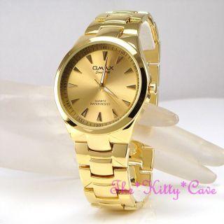 Omax Wasserdicht/gold Plt Designer - S.  Steel Seiko Epson Bewegung Schlank Uhr Bild