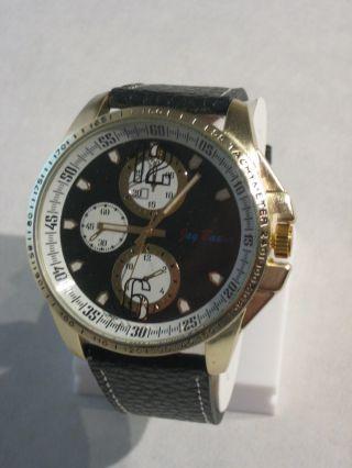 Jay Baxter - Xxl Herren Uhr Armbanduhr Echt Lederarmband Dunkel Analog - A0990 Bild