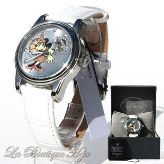 Disney Armbanduhr Minni Mouse Automatik,  Edelstahl,  Leder,  Swarovski Crystal Bild
