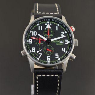 Astroavia Air Craft No.  17 - 7 Zeiger Profi Alarm Chronograph Fliegeruhr Bild