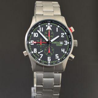 Astroavia Air Craft No.  17e - 7 Zeiger Profi Alarm Chronograph Fliegeruhr Bild
