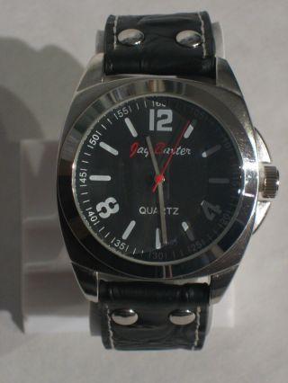 Jay Baxter - Xl Herren Uhr Armbanduhr Echt Lederarmband Schwarz Analog - A1361 Bild