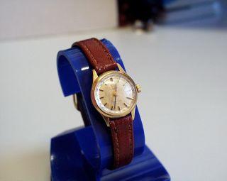 Servicesierte - 18k Massiv - Gold - Omega - Geneve - Damen - Uhr Mit Mech Werk Bild