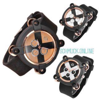 Fashion Stil Herren Silikon Sportuhr Quarzuhr Armbanduhr Cool Kreuz Drei Rad Uhr Bild