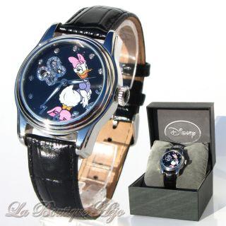 Disney Armbanduhr Daisy Duck Automatik,  Edelstahl,  Leder,  Swarovski Crystal Bild