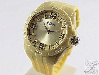 Fila Damen Und Herren Uhr Fa1036 Kunststoff Silikon Cream Uhren Sportuhren Bild